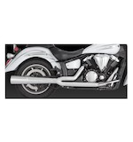 Vance & Hines Pro Pipe Chrome Exhaust For XV1300 V-Star 2006-2014