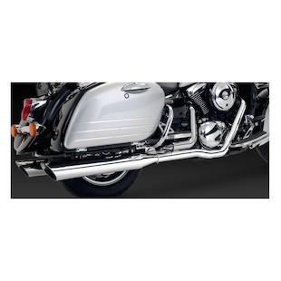 Vance & Hines Bagger Slash-Cut Dual Exhaust For Kawasaki VN1500G/VN1600 Nomad 1998-2008
