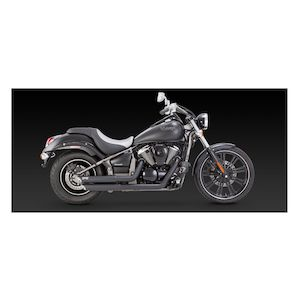 Vance & Hines Twin Slash Staggered Exhaust Kawasaki Vulcan VN900 2006-2017