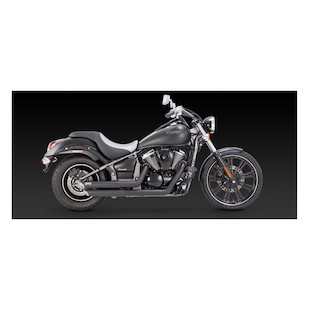 Vance & Hines Twin Slash Staggered Exhaust For Kawasaki Vulcan VN900 2006-2014