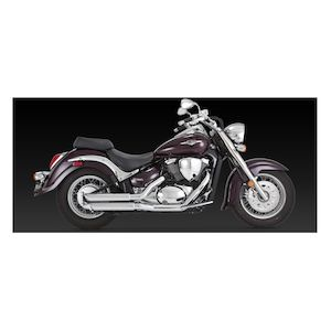 Vance & Hines Twin Slash Staggered Exhaust Suzuki Boulevard M50/C50 2001-2009