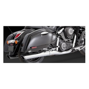 Vance & Hines Twin Slash Round Slip-On Exhaust for VN1700 Voyager/Nomad 2009-2013