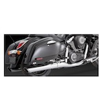Vance & Hines Twin Slash Round Slip-On Mufflers For Kawasaki VN1700 Voyager/Nomad/Vaquero 2009-2014