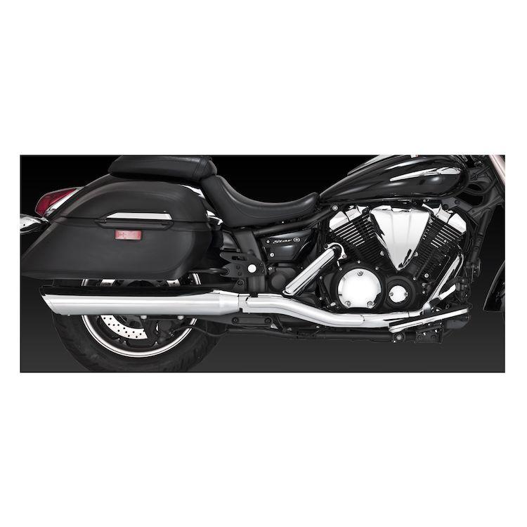 Vance & Hines Twin Slash Round Slip-On Mufflers Yamaha V-Star XV950 / Tourer