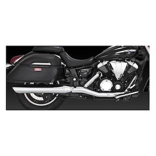Vance & Hines Twin Slash Round Slip-On Mufflers Yamaha V-Star XV950 2009-2015