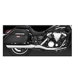 Vance & Hines Twin Slash Round Slip-On Mufflers Yamaha V-Star XV950 / Tourer