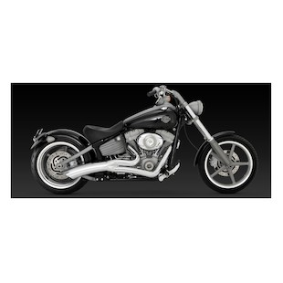 Vance & Hines Big Radius 2-Into-1 Exhaust For Harley Rocker And SE Springer 2008-2011