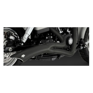 Vance & Hines Big Radius 2-Into-1 Exhaust for Harley Dyna 06-11
