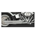 Vance & Hines Q Series Double Barrel Staggered Exhaust For Harley Softail 1986-2011