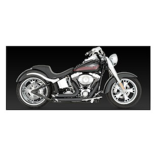 Vance & Hines Shortshots Staggered Exhaust for Harley Softail 86-11