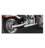 Vance & Hines Straightshots HS Slip-On Mufflers For Harley Softail 2000-2006