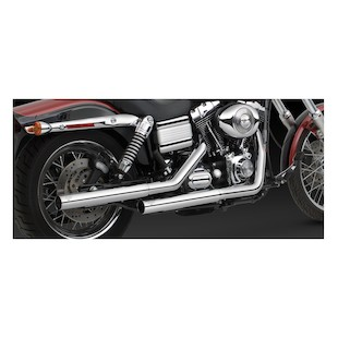 Vance & Hines Straightshots HS Slip-On Mufflers For Harley Dyna 1991-2017
