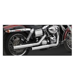 Vance & Hines Straightshots HS Slip-On Exhaust For Harley Dyna 1991-2015