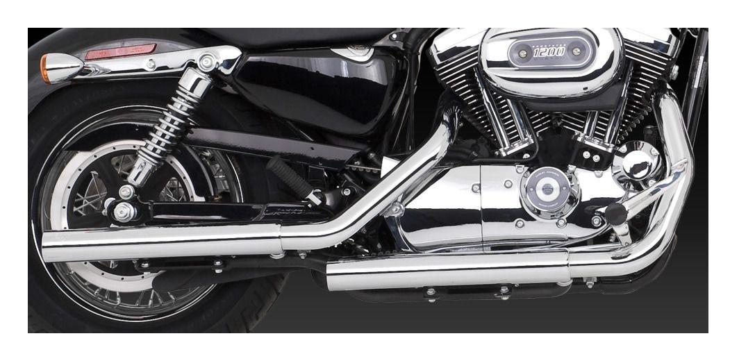 Vance  U0026 Hines Straightshots Hs Slip-on Mufflers For Harley Sportster 2004-2013