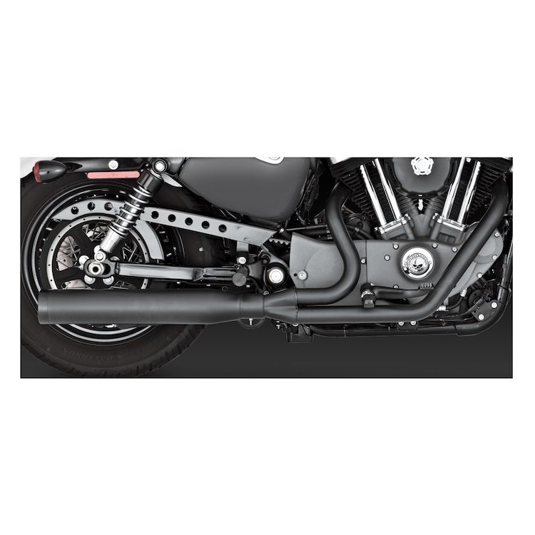 Vance & Hines Blackout 2-Into-1 Exhaust For Harley Sportster 2004-2013