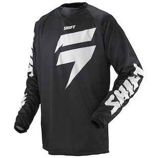 Shift Strike Jersey (Color: Black / Size: LG)