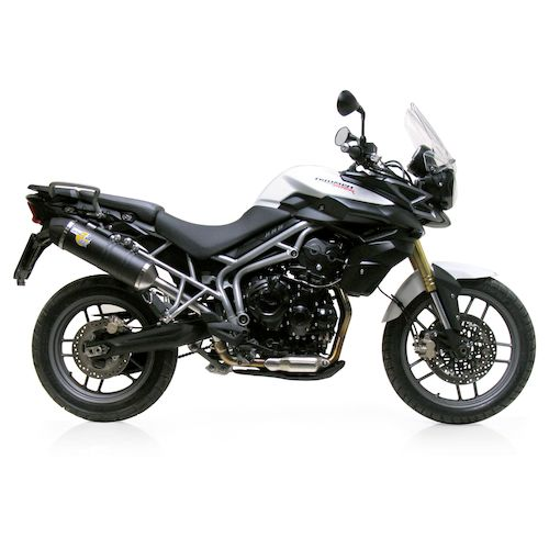 leovince lv one evo ii slip on exhaust triumph tiger 800. Black Bedroom Furniture Sets. Home Design Ideas