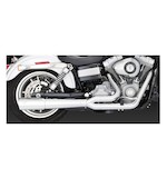 Vance & Hines 2-Into-1 Pro Pipe Exhaust For Harley Dyna 2006-2011