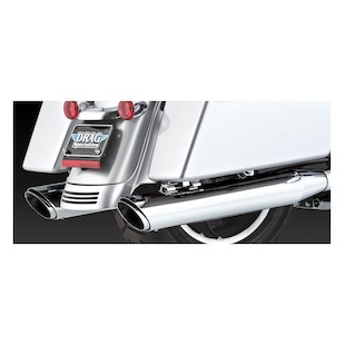Vance & Hines Twin Slash Slip-On Exhaust For Harley Touring 1995-2015