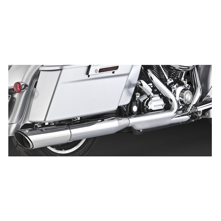 "Vance & Hines 4"" Round Twin Slash Slip-On Muffler For Harley Road Glide / Street Glide 2010"
