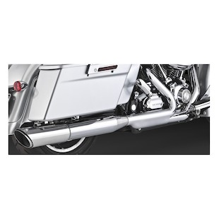 Vance & Hines Twin Slash Slip-On Exhaust For Harley Road Glide And Street Glide 2010