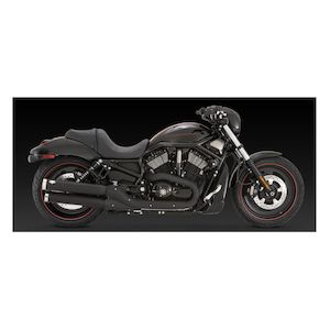 "Vance & Hines 3 1/2"" Widow Slip-On Mufflers For Harley V-Rod 2006-2017"