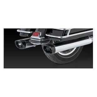 Vance & Hines Monster Oval Slip-On Mufflers For Harley Touring 1995-2016