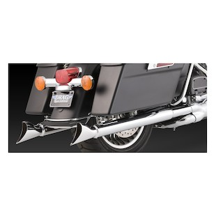 "Vance & Hines 3"" Fishtail Slip-On Mufflers For Harley Touring 1995-2016"