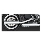"Vance & Hines 3"" Round Twin Slash Slip-On Mufflers For Harley Softail 2007-2017"