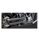 "Vance & Hines 3"" Round Twin Slash Slip-On Mufflers For Harley Softail 2011-2017"