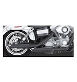 "Vance & Hines 3"" Round Twin Slash Slip-On Mufflers For Harley Dyna 1991-2015"