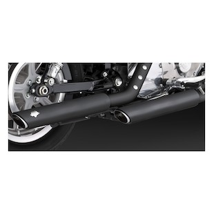 "Vance & Hines 3"" Round Twin Slash Slip-On Exhaust For Harley Sportster 2004-2013"