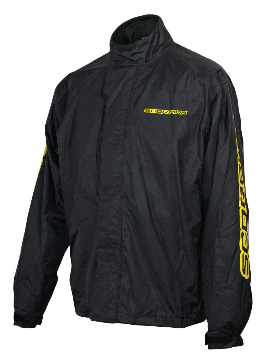 Flannel Motorcycle Jacket >> Scorpion EXO Barrier Jacket Men's Off-Road Motorcycle Rain Gear, Black / X-Large 845468032626 | eBay