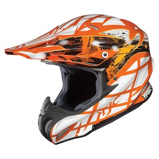 HJC RPHA X Tempest Helmet (Color: Orange/White/Silver / Size: XS)