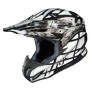 HJC RPHA X Tempest Helmet (Color: Black/White/Silver / Size: MD)