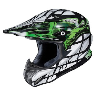 HJC RPHA X Tempest Helmet (Color: Black/Green/Silver / Size: MD)