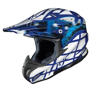HJC RPHA X Tempest Helmet (Color: Blue/White/Silver / Size: MD)