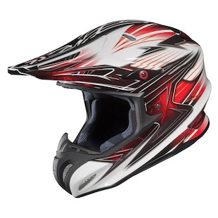 HJC RPHA X Factor Helmet (Color: White/Black/Red / Size: XL)