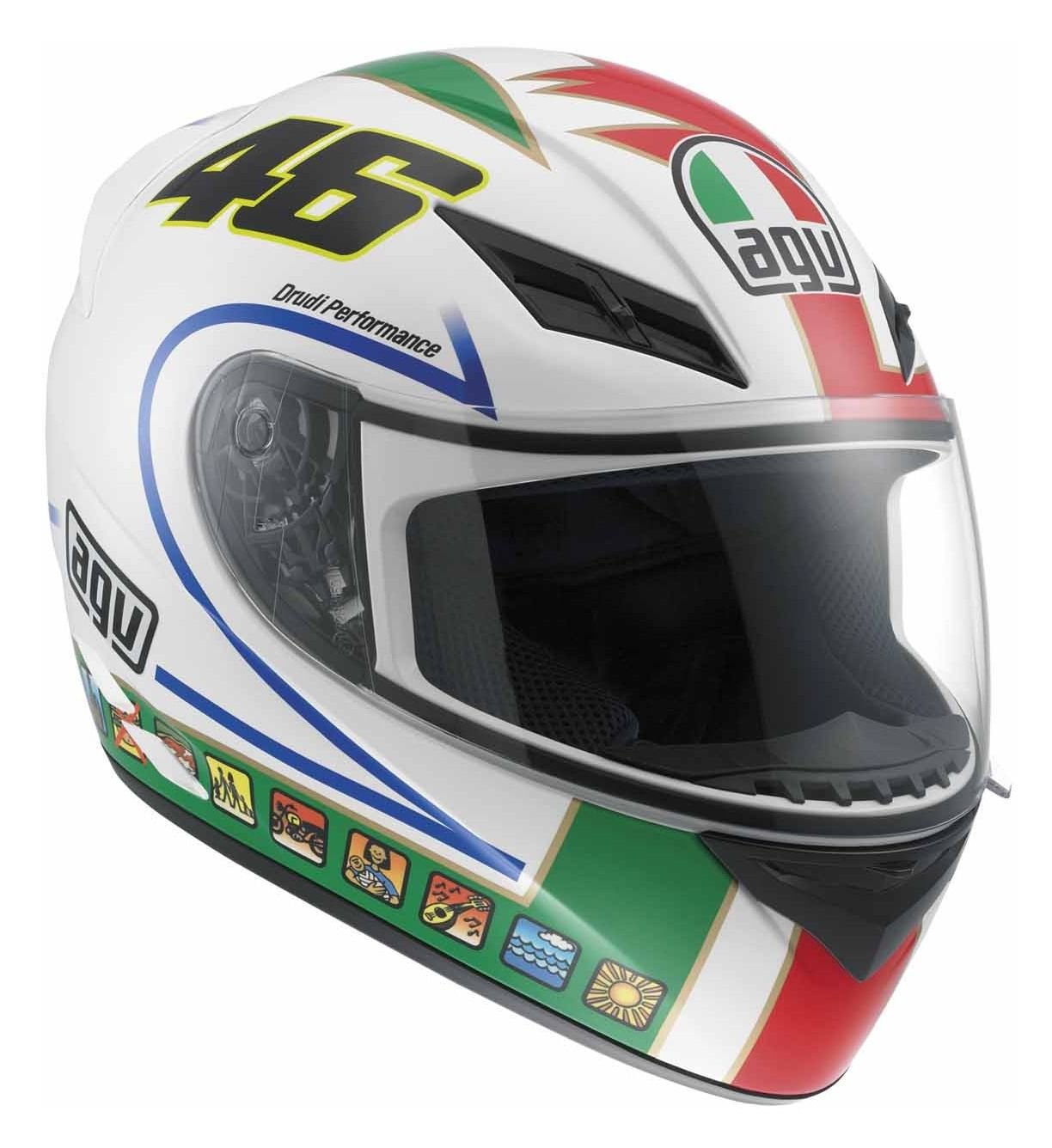 agv k3 rossi icon helmet revzilla. Black Bedroom Furniture Sets. Home Design Ideas