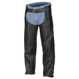 River Road Basic Motorcycle Leather Chaps