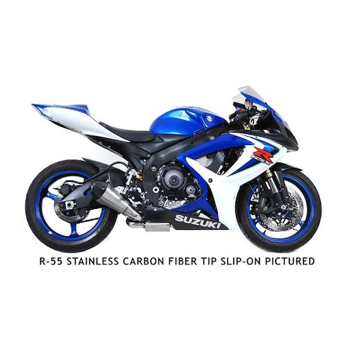 yoshimura r55 race slip on exhaust suzuki gsxr 600 gsxr 750 2006 2007 revzilla. Black Bedroom Furniture Sets. Home Design Ideas