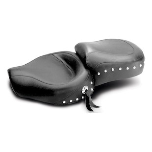 Mustang Studded One-Piece Wide Vintage Touring Seat for Harley Sportster 1982-2003