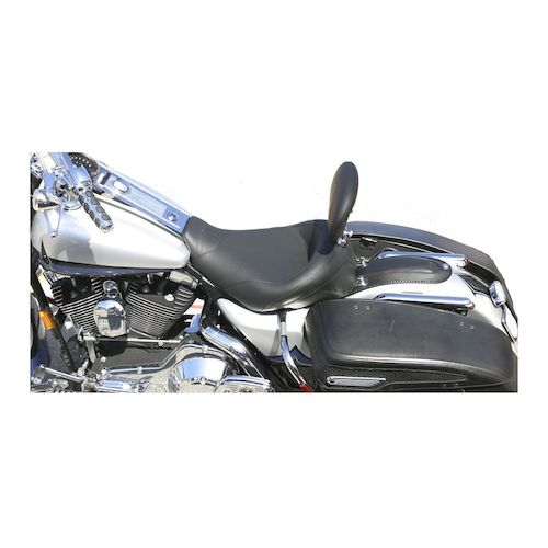 Mustang Solo Seat With Driver Backrest For Harley Road