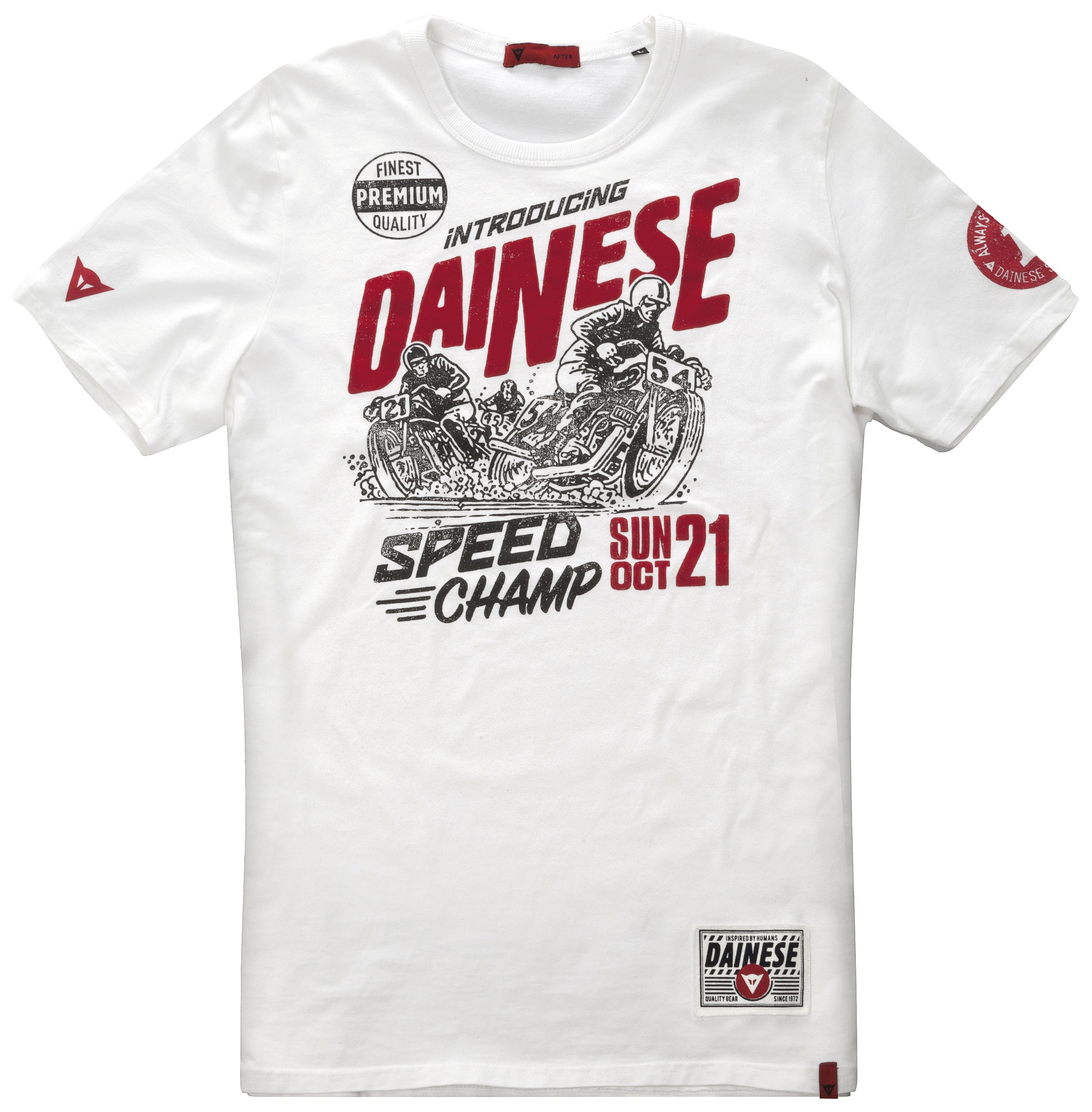 dainese speed champ t shirt revzilla. Black Bedroom Furniture Sets. Home Design Ideas