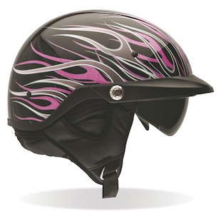Bell Women's Pit Boss Pink Flames Helmet (Size 2XL Only)