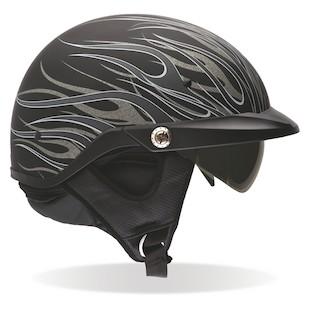 Bell Pit Boss Titanium Flames Helmet