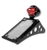 Roland Sands Vertical Passenger Peg Mounted Tag Bracket For Harley Softail 00-13