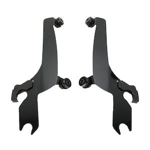 Memphis Shades Fats / Slim To Sportshield Plates-Only Mount Kit For Harley Softail 1986-2017