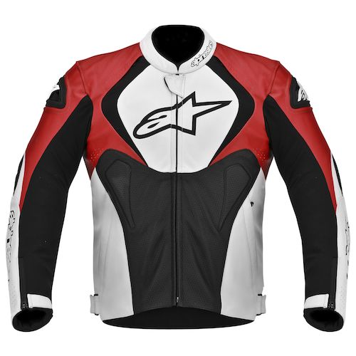 Alpinestars Jaws Perforated Leather Jacket - Black/White/Red