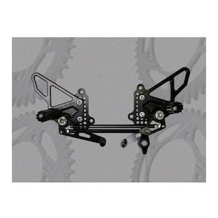 Vortex Adjustable Rearsets Ducati 848/1098/1198